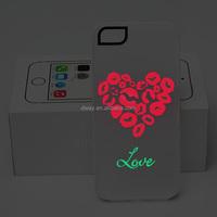 Wholesale Mobile Phone Case Glow Luminous Case for iPhone 5S 6 6S Plus Transparent PC Case