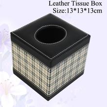 Haute qualité OEM carré créative boîte de mouchoirs en cuir