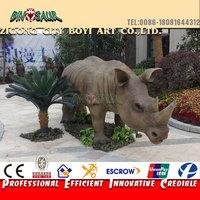 Infrared robotic animal of life-size rhino model