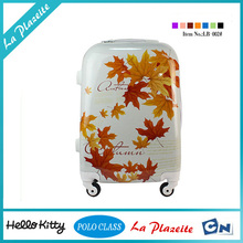 customed ABS trolley case sets clear luggage cover