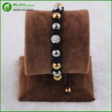 Beautiful color bead personalised girls friendship bracelets woven friendship bracelet