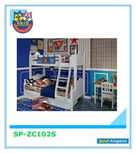 2015 Alibaba Finland Good For Health Preschool Furniture Pine Wood Triple Bunk Bed For Kids
