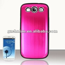 2012 for samsung galaxy s3 i9300 new arrive metal aluminum case with silicon