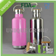 32oz 18/8 Klean Kanteen Quality Stainless Steel Bamboo Cap Insulated Stainless Steel Vacuum Water Bottles