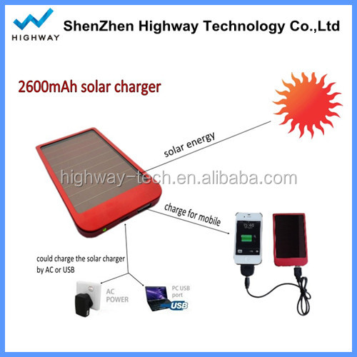 2015 waterproof solar mobile phone charger