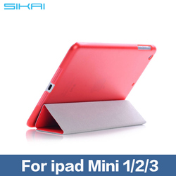 Case For iPad mini 1 2 3 Smart Case cover Folding Ultra Thin Flip Leather Case for iPad 7.9 inch