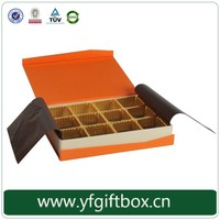 Custom luxury design cardboard chocolate packaging box hot stamping brand logo chocolate candy box