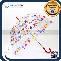 Transparent Clear Color Dots Umbrella