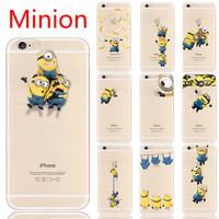 Cute Cartoon Minion Despicable Me Print TPU Gel Soft Cover Case For iPhone 6 6s