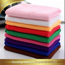 gaoyang hebei china supplier quick dry soft microfiber plain multicolor towel car cleaning 40*60cm