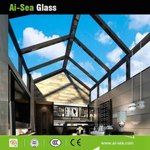 Sunroom Veranda/ Garden with Hollow laminated Tempered Glass Roof