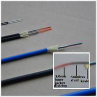 7.0mm single core armored fiber optic cable with 3.2mm sub cable