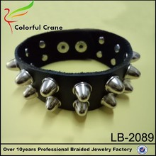 girls punk leather cuff bracelet with rivet for shcool party