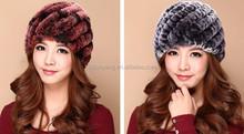 clap hand hat with hand/crochet flower/cute rabbit fur scarf