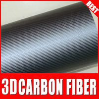new style TS show lyrics car mp3 player carbno fiber vinil sticker wholesale best selling 3d carbon fiber film Silver