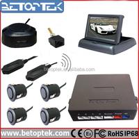 Betoptek 4.3 Inch Monitor Reverse Parking Sensor with Camera