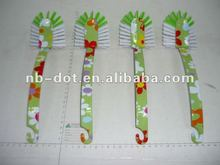 Daily-use Flower Printed Plastic Dish Brushes