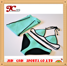 Free design custom neoprene bikini triangl
