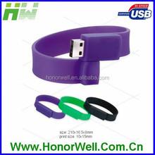 Red bracelet usb flash key memory stick free customized logo accept customized logo
