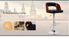 wholesale European solid beech wooden bar stool