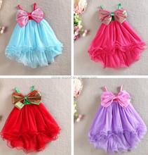 1513 2015 wholesale south Korea fashion European sweet girl big bowknot candy color girl dress