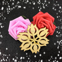 Free Shipment 2016Teda different shapes carved wood ornament