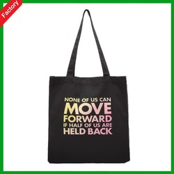 2015 new black high quality white Eco friendly factory price10oz recycled custom100% shopping canvas cotton tote bag with handle