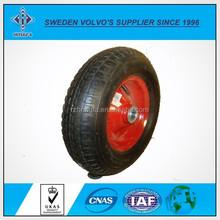 Black elastic rubber wheel caster wheel swivel or fixed or swivel