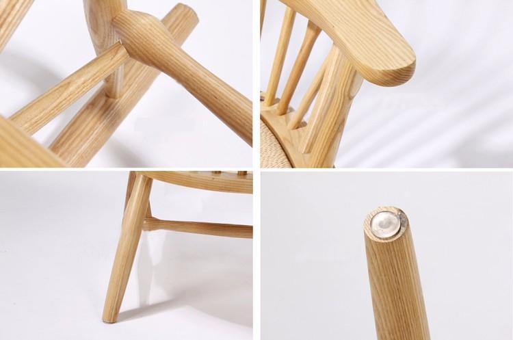 간단한 현대 식당 클래식 나무 의자 디자인 높은 다시 왕좌 공작 ...