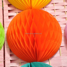 High quality wholesale hanging wedding decorations handicraft round tissue paper honeycomb ball