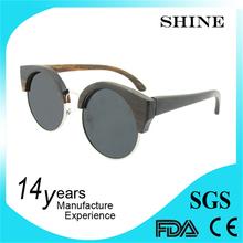 Interchangeable temple uv400 lens 100% polarized wooden sunglasses