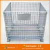 Foldable collapsible steel wire mesh storage cage pallet container