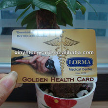 High quality golden healthy card