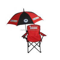 adjustable aluminum armrest backrest small folding table reclining camping chair with umbrella