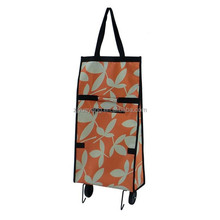 YY-24X11 Foldable shopping bag with Two wheels steel trolley