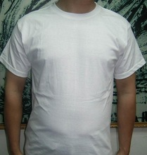 Wholesale cheap plain white blank t shirt with private logo made in China