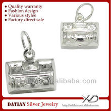 xd hc005 925 الفضة الاسترليني قفل القديمة أو جرس صغير الصائغمجوهرات الصائغ