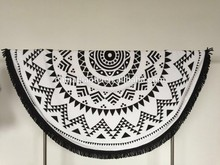 wholesale cheap cotton printed large round beach towel