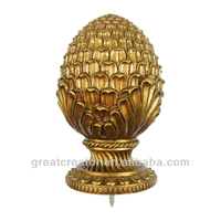 Renaissance Gold Pineapple Large Curtain Rod Finial from China Home Decor Wholesale