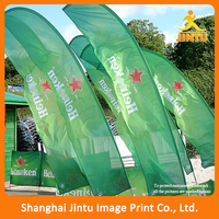 Full color printed polyester fabric flag, waterproof beach flag wholesale
