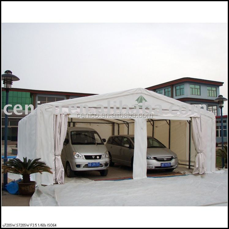 Portable Car Tent Garage : Portable vehicle garage car shelter canopy storage