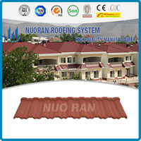 popular color stone coated metal roofing tiles for house /hammered metal tiles/metal corrugated tile roofing