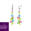 Hot Sale 925 Silver Fashionable Jewelry Colorful Bicone Earrings Made with Swarovski Crystal V5010-KW63015301LT