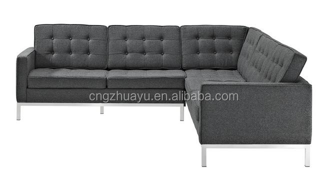 Classic Leather Florence Knoll Sectional Corner Sofa