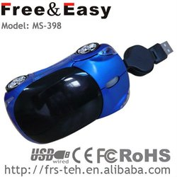 3d new car mouse with retractable cable