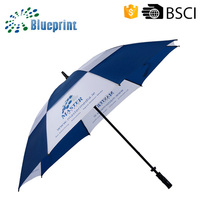 30 Inch 2 Colors Sport Straight Advertising Wind-proof Golf Umbrella