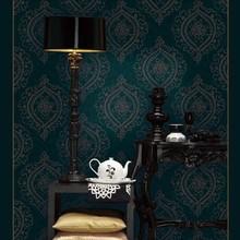 10M roll European luxurious Off-white/Red/grey/green damask vinyl wallpaper