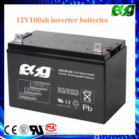 Rechargeable flooded 12v 100ah lead acid battery