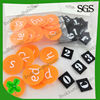 best selling velcro sticky patch/ alphabet letters patch of number