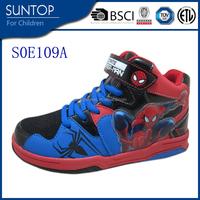 spideman wholesale china designer skate sports kids shoes, boy high top stylish sport shoes